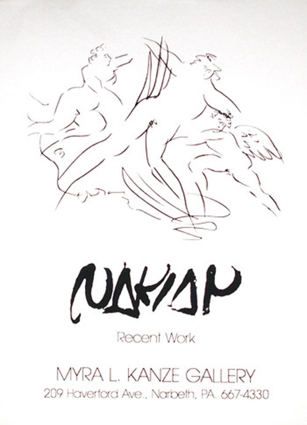 Reuben Nakian, Recent Work, Serigraph Poster