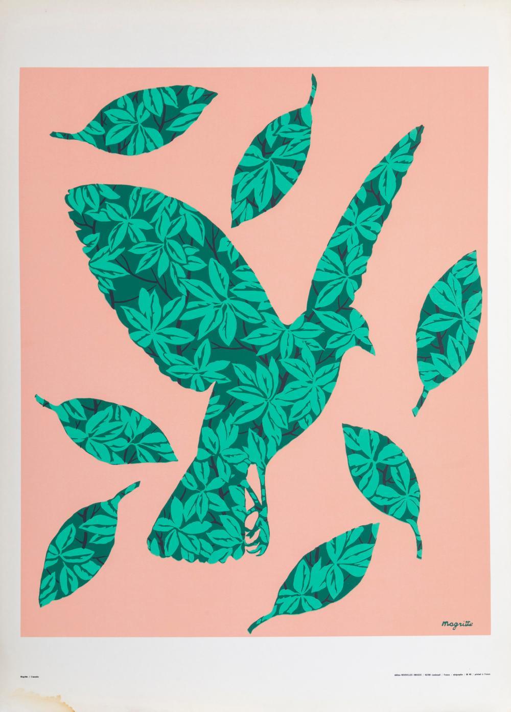 Rene Magritte, L'Oiseau de Ciel, Poster on board