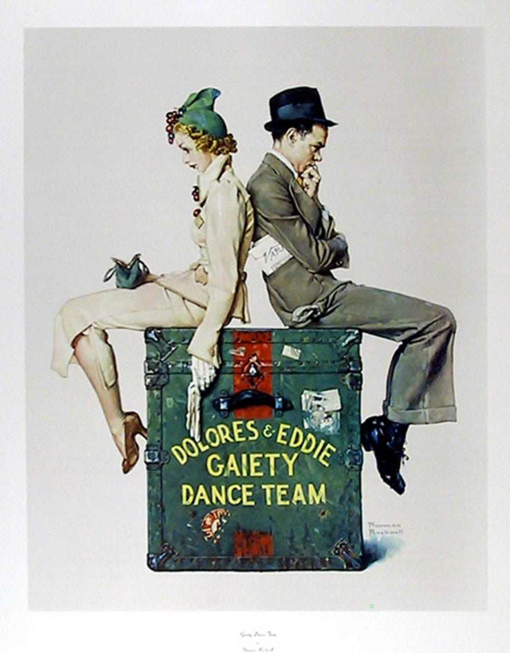 Norman Rockwell, Gaiety Dance Team, Vintage Poster