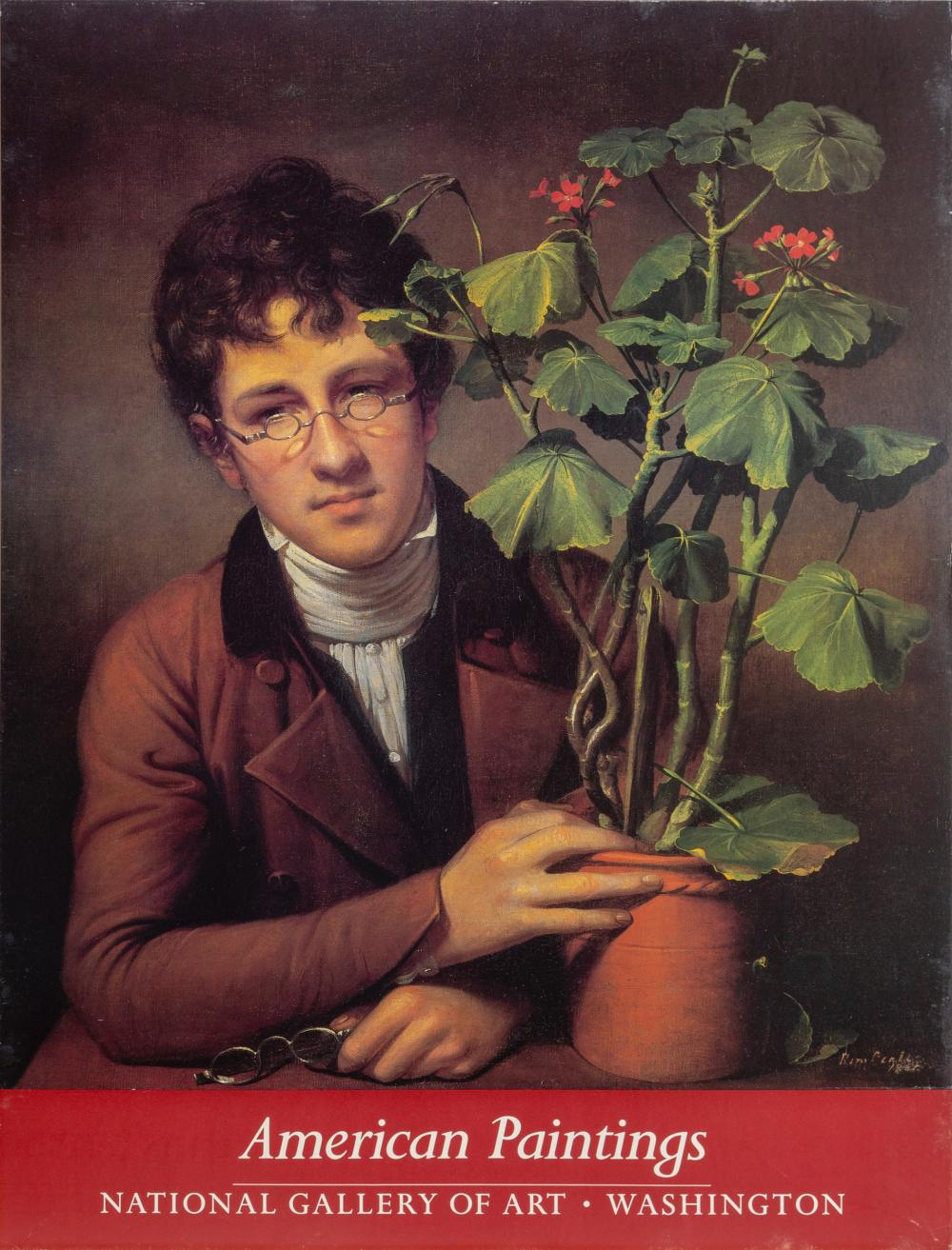 Rembrandt Peale, Rubens Peale with a Geranium, Poster on board