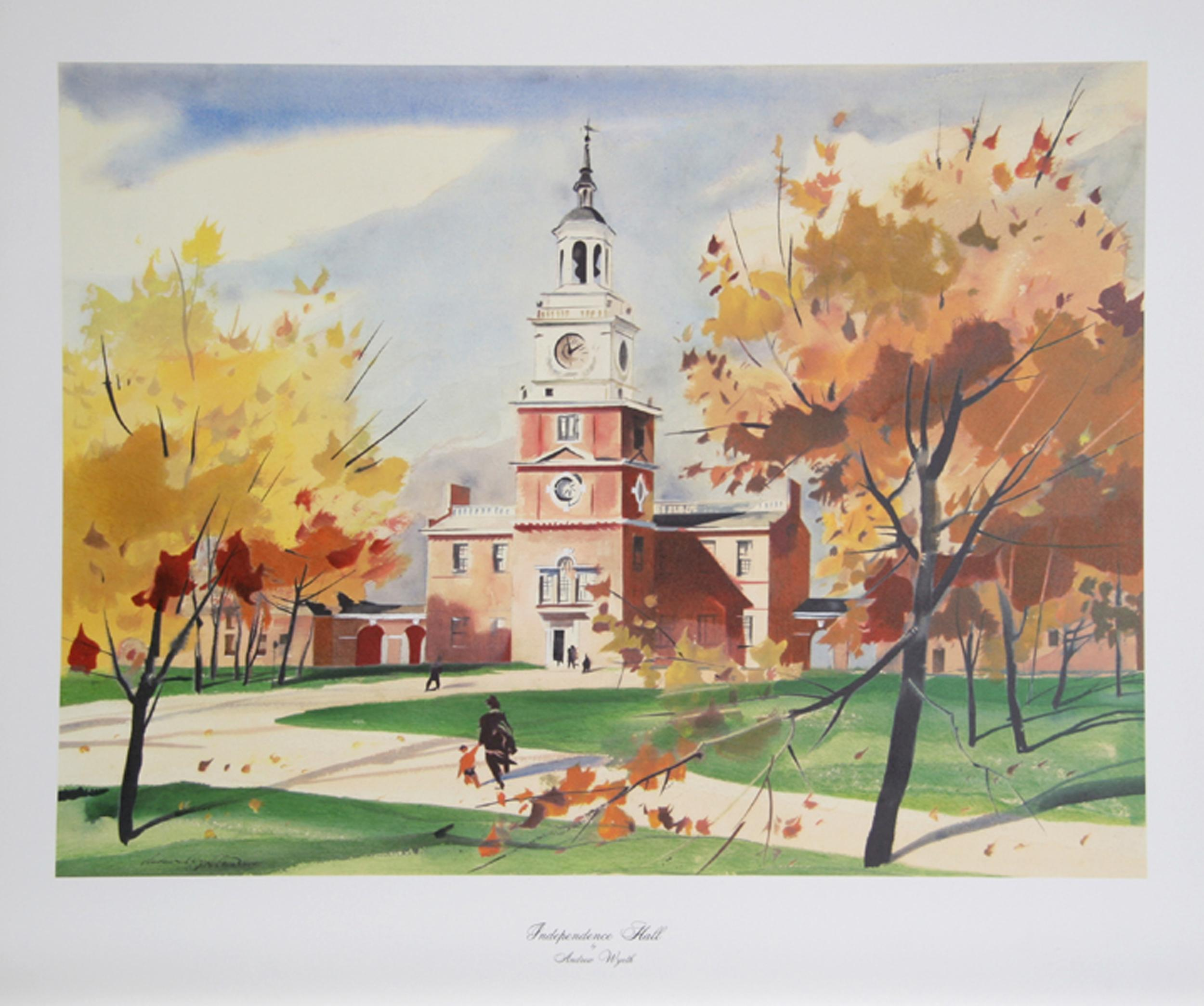 A.N. Wyeth, Independence Hall, Poster
