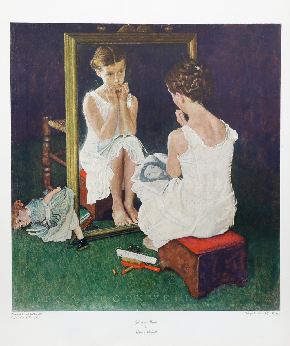 Norman Rockwell, Girl at the Mirror, Poster