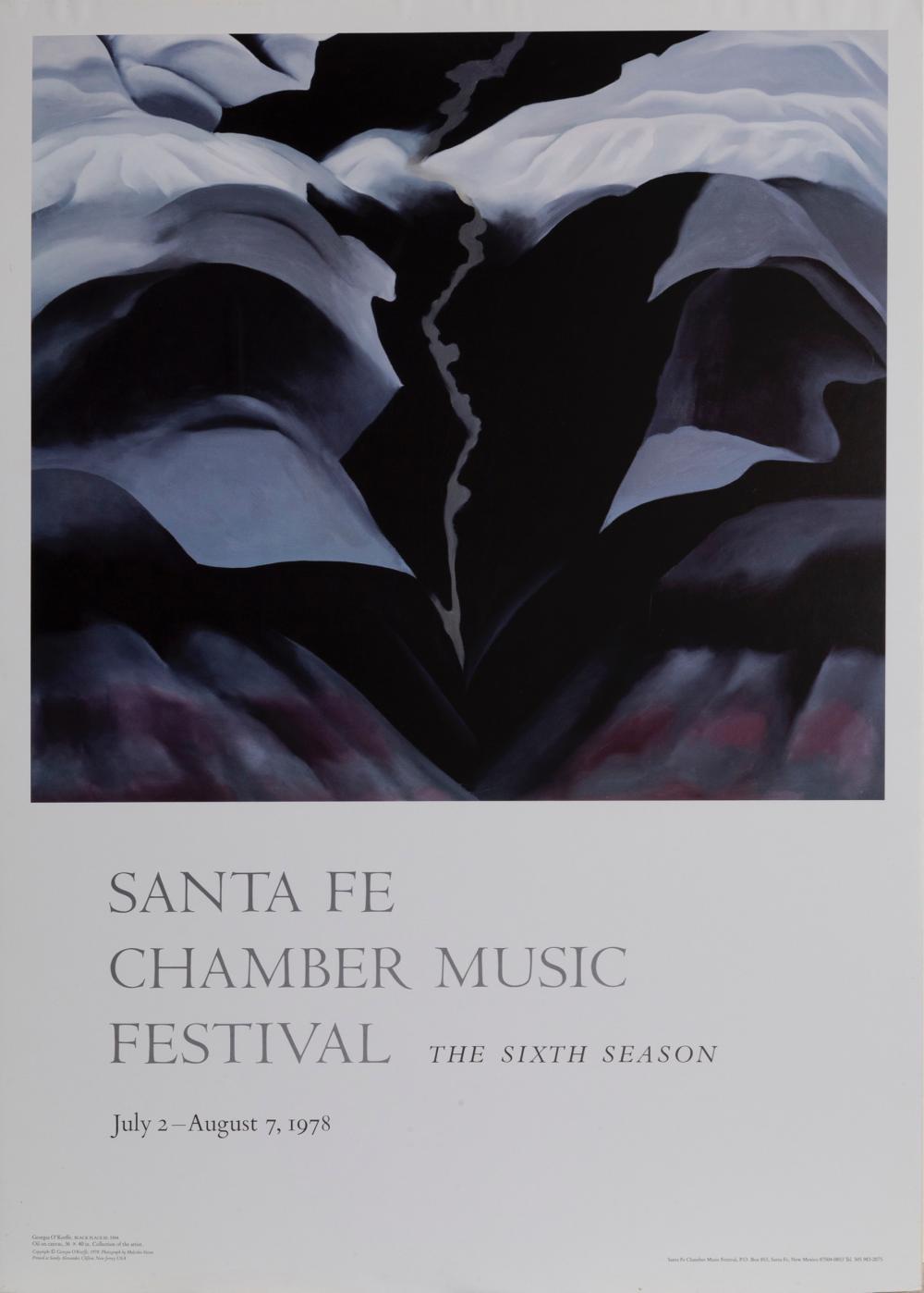 Georgia O'Keeffe, Black Place III, Poster on foamcore