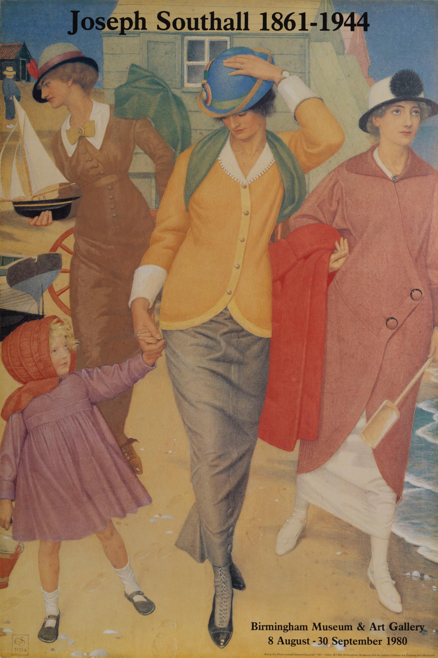 Joseph Southall, Along the Shore - Birmingham Museum and Art Gallery, Poster on board