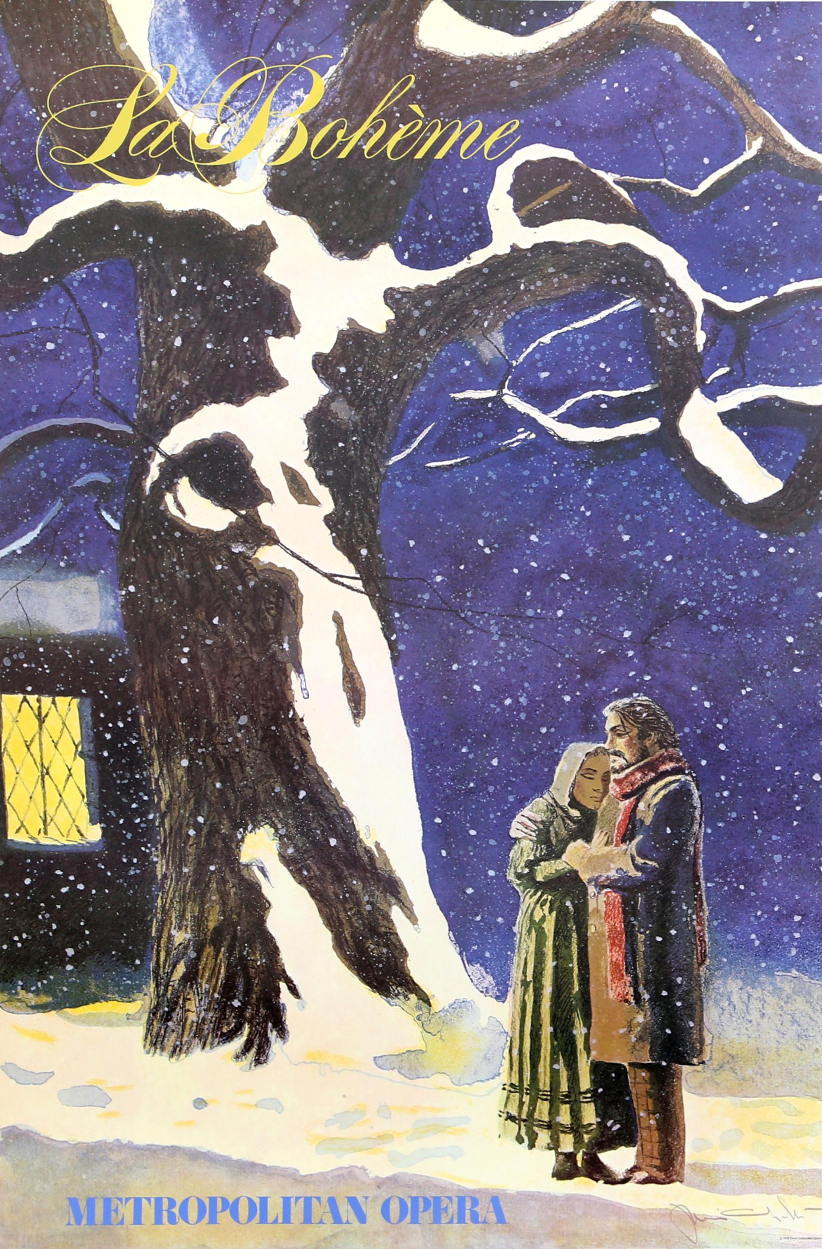 Jamie Wyeth, La Boheme (Metropolitan Opera), Poster on Heavy Stock