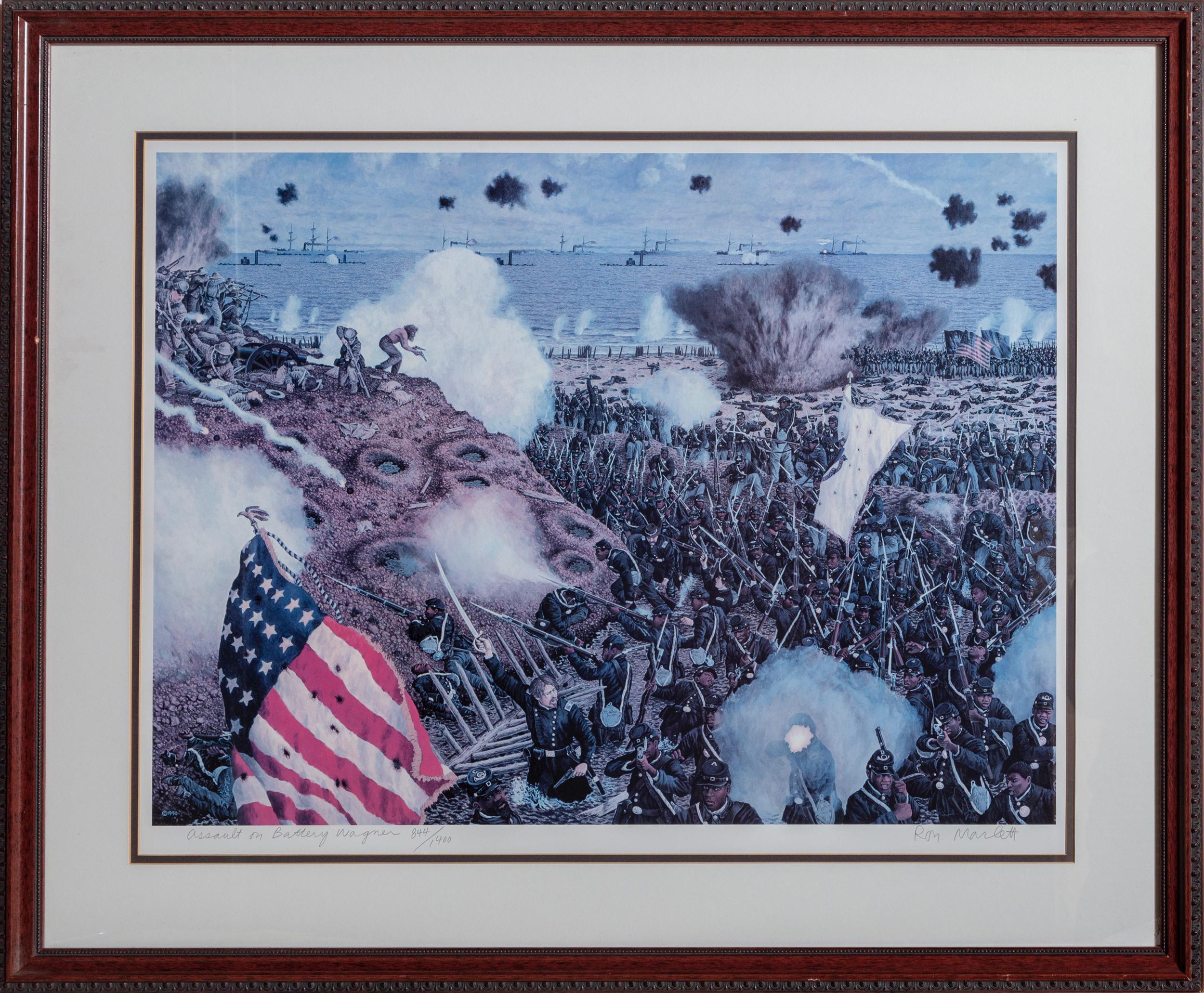 Ron Marlett, Assault on Battery Wagner, Lithograph