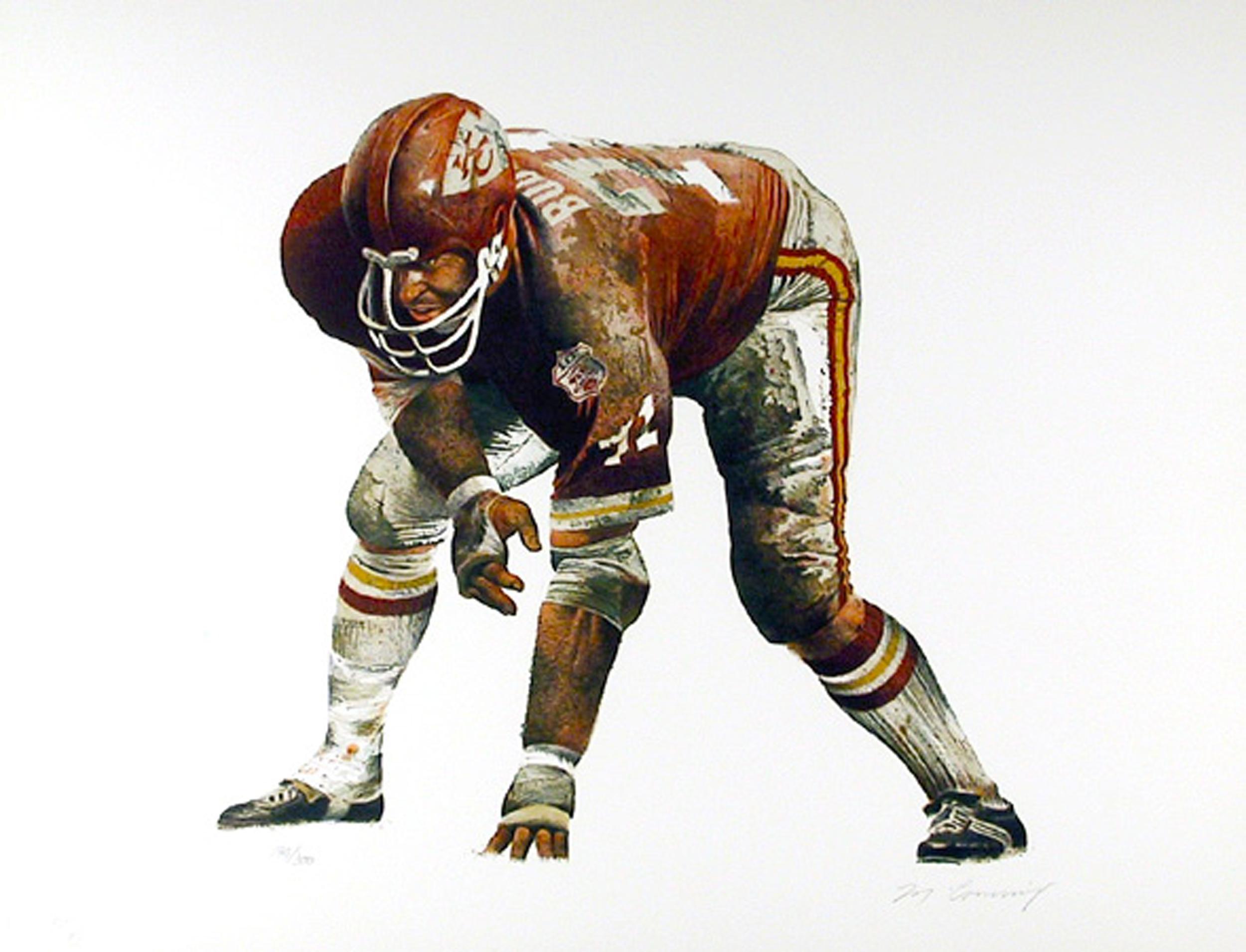 Merv Corning, On the Line (Kansas City Chiefs), Lithograph