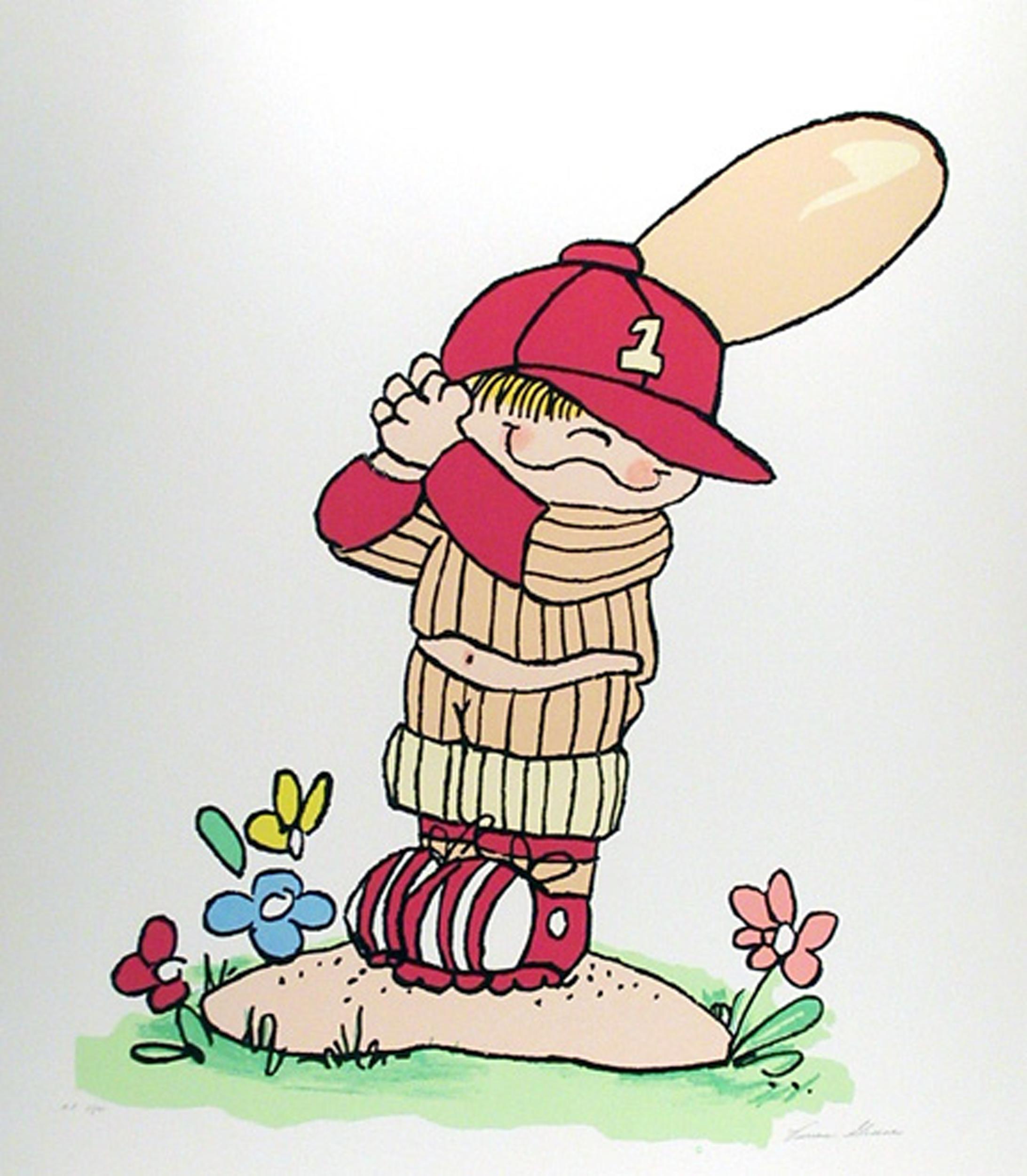 Vivian Greene, Young Little League Baseball Player, Serigraph