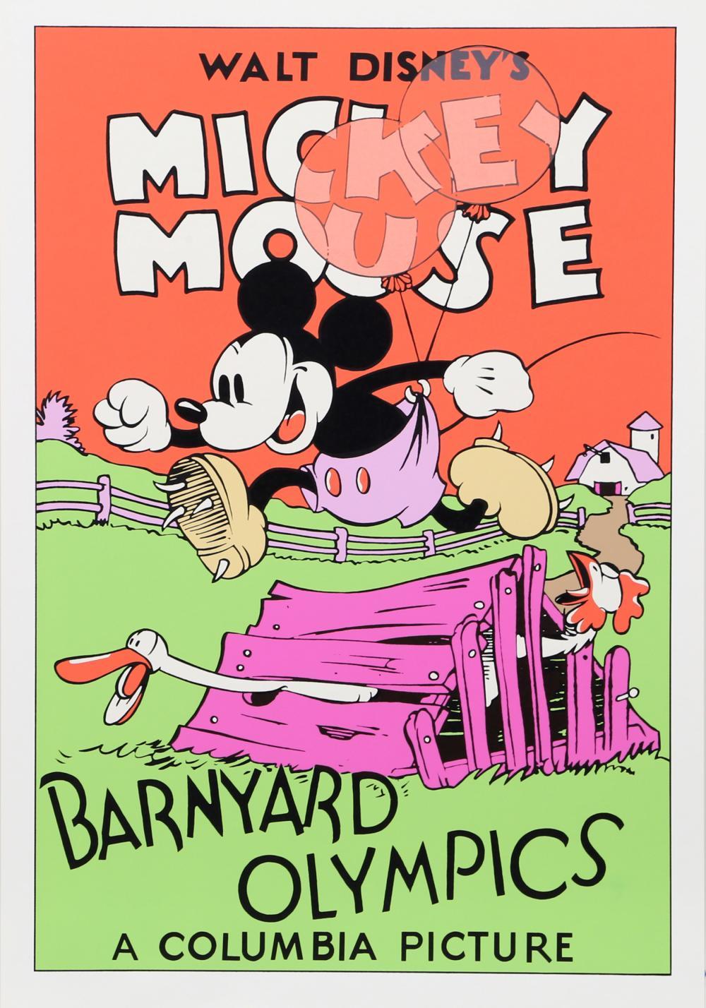 Walt Disney Studios, Walt Disney's Mickey Mouse: Barnyard Olympics, Poster