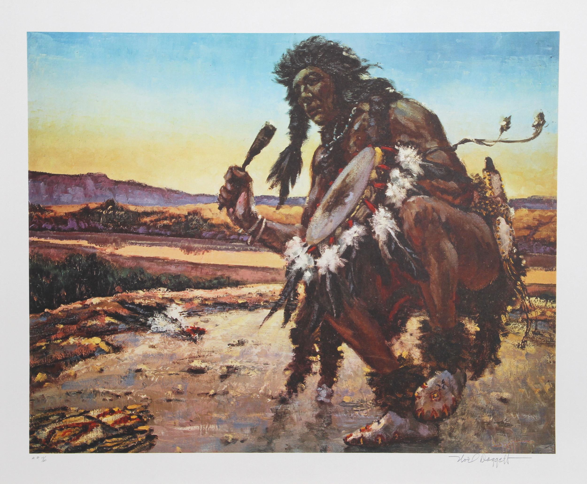 Noel Daggett, Bring Back the Buffalo, Lithograph