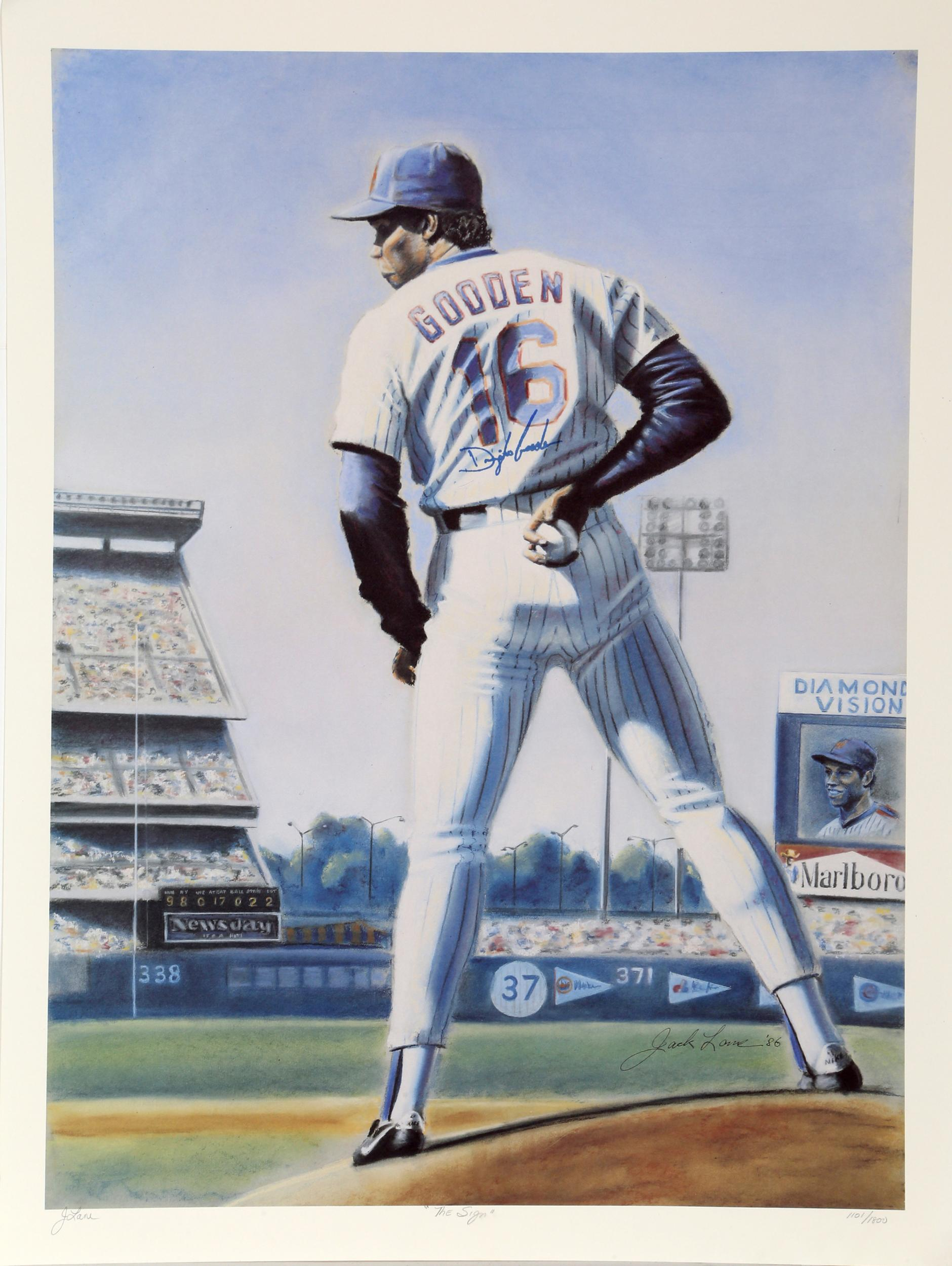 Jack Lane, The Sign (New York Mets Dwight Gooden), Offset Lithograph