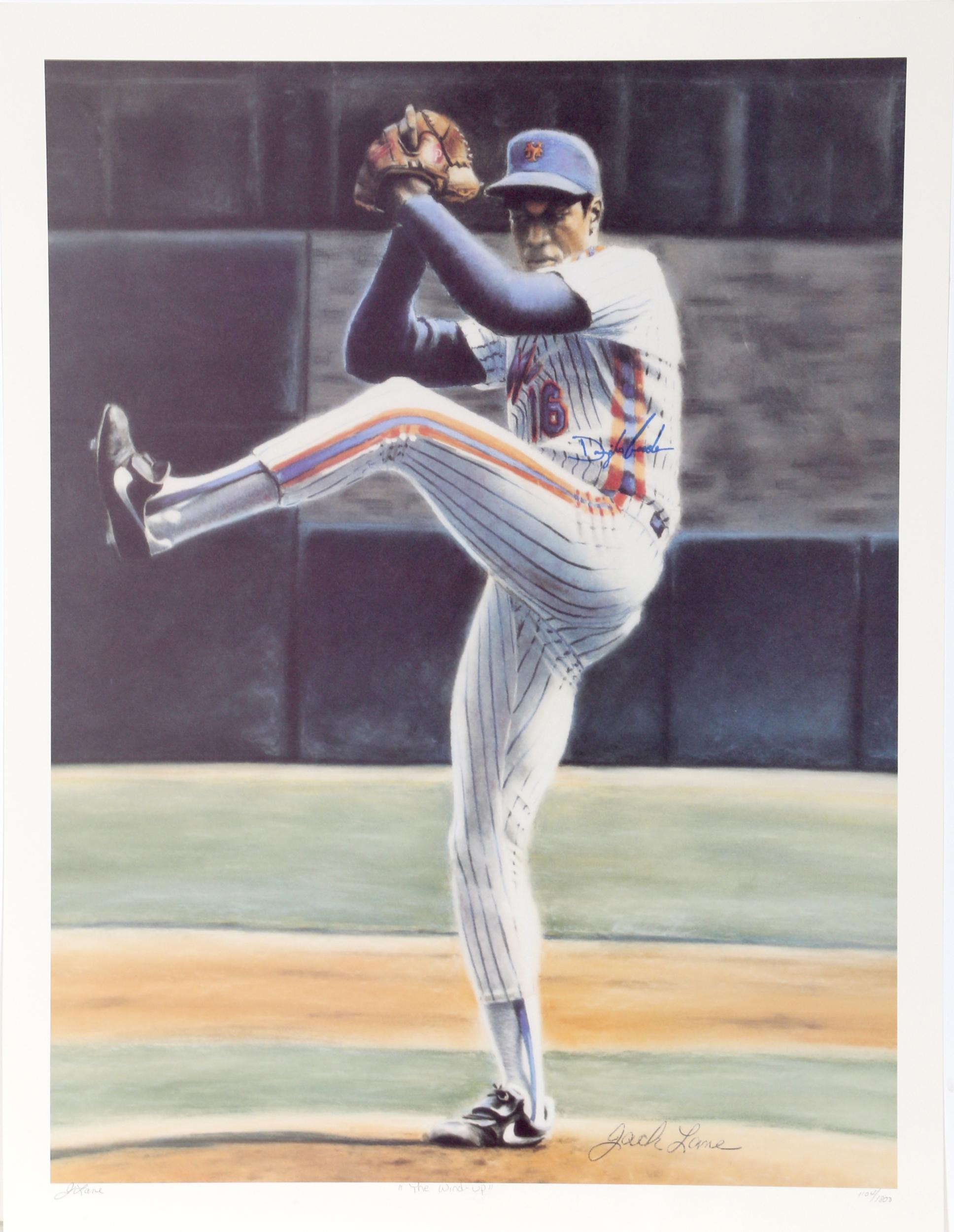 Jack Lane, The Wind Up (New York Mets Dwight Gooden), Offset Lithograph