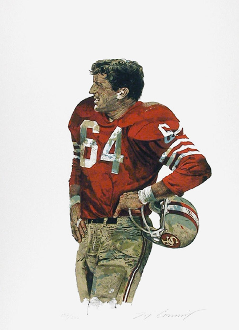Merv Corning, Old Pro (San Francisco 49ers), Lithograph