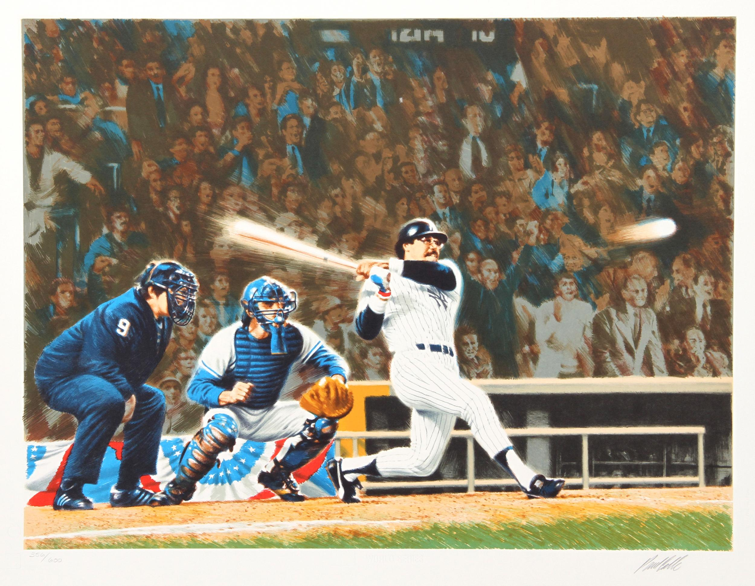 Paul Calle, Mr. October (Yankees Reggie Jackson), Lithograph