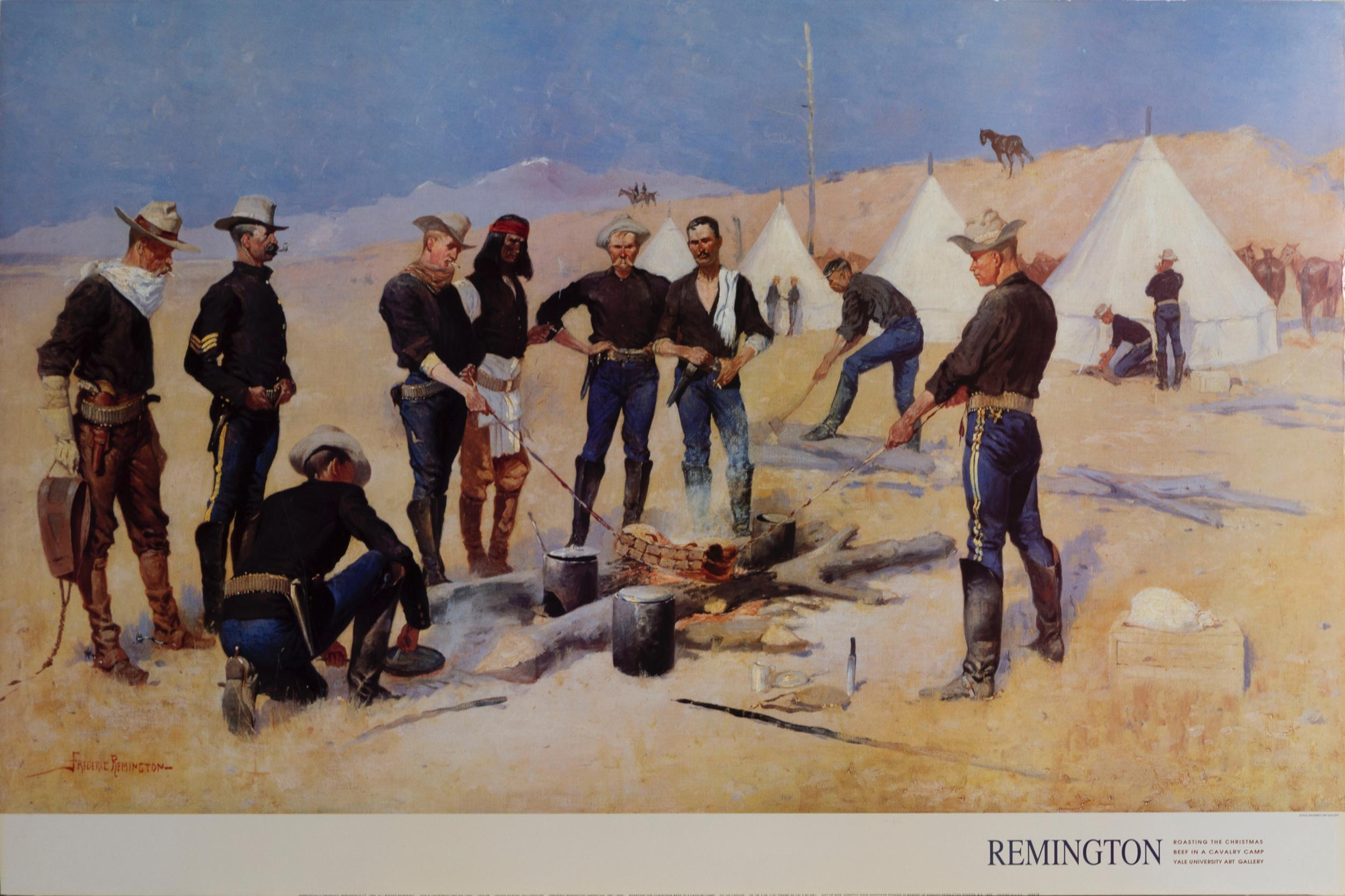 Frederic Remington, The Christmas Beef in a Cavalry Camp, Poster on foamcore
