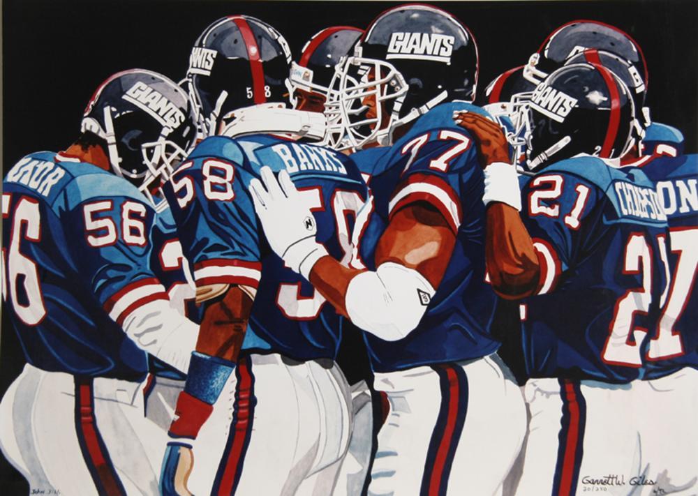 Garrett W. Giles, New York Giants, Lithograph Poster