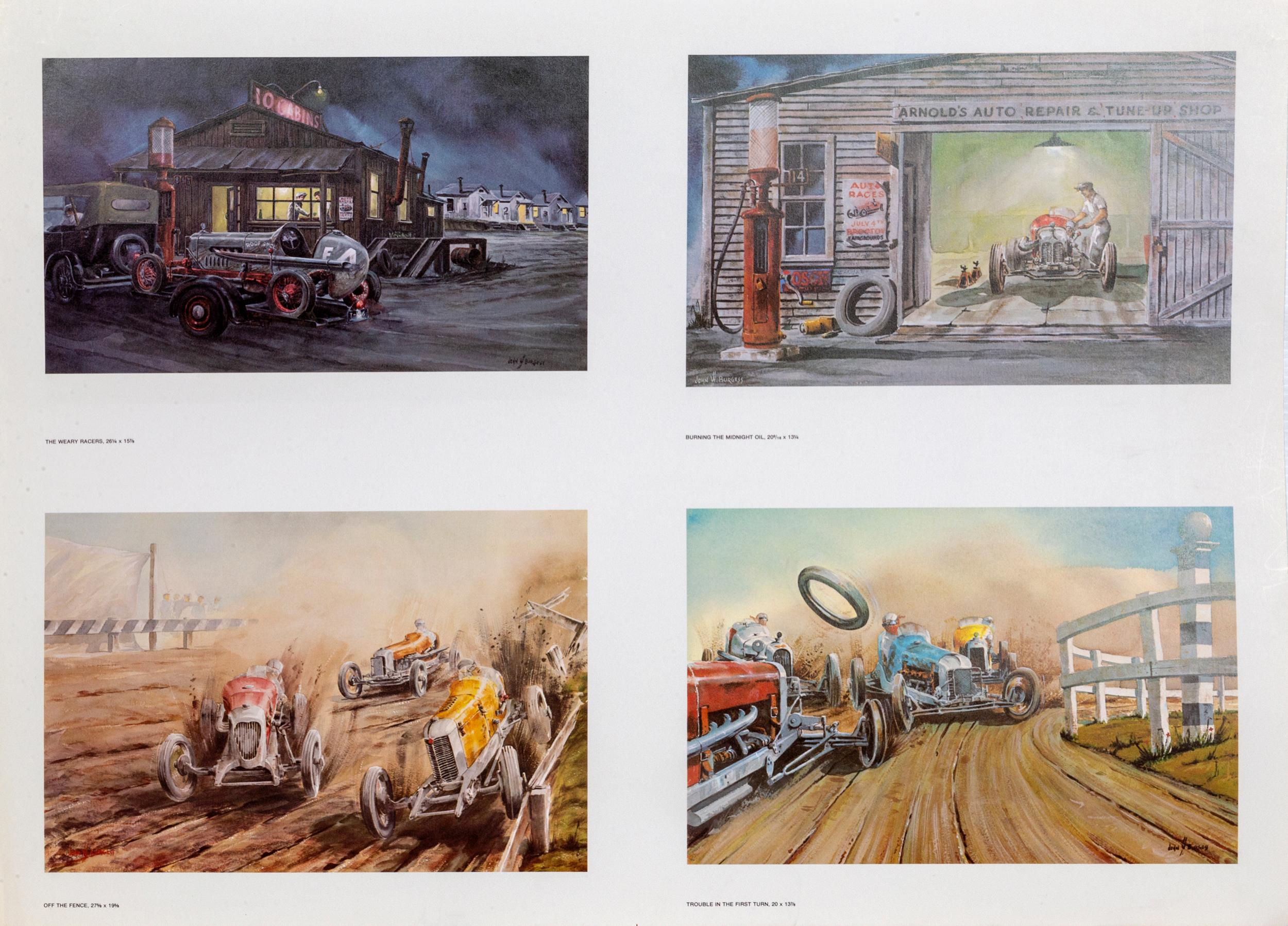 John W. Burgess, Car Scenes Poster, Double Sided Poster, Four Images each Side