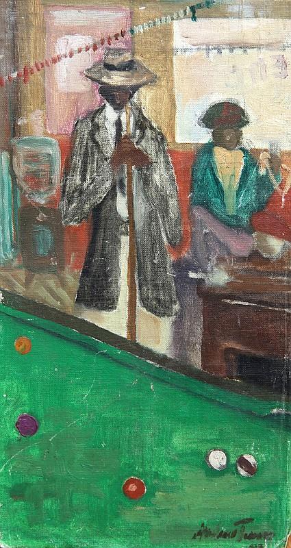 Andrew Turner, Pool Shark, Oil Painting