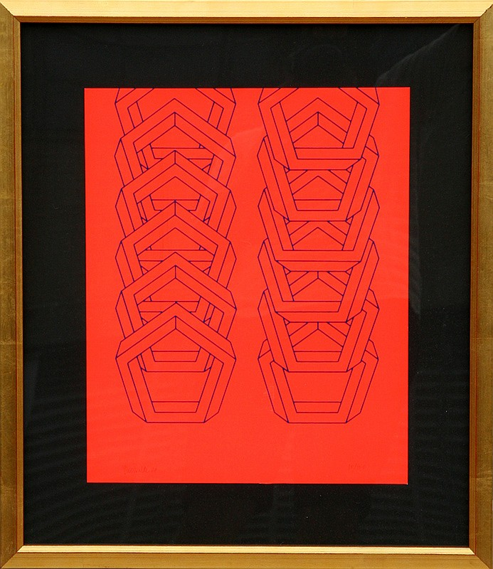 Jose Maria Yturralde, Interlocked Hexagons, Serigraph