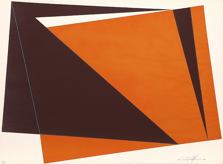 Cris Cristofaro, Orange Rectangles, Silkscreen