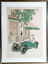Denis Paul Noyer, Deux Magots, Lithograph