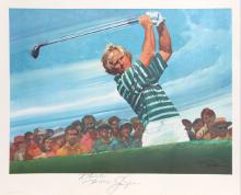 Robert Peak, Golf Lithograph signed by Jack Nicklaus