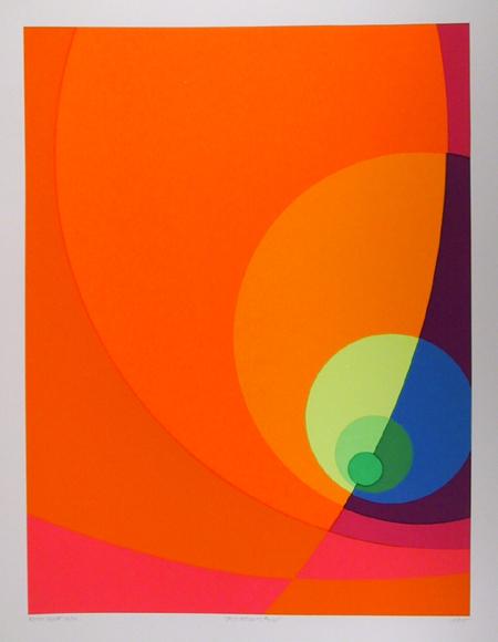 Herbert Aach, Split Infinity #12BS, Serigraph