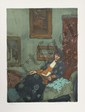 Malcolm Liepke, Woman Reading, Lithograph, Malcolm T Liepke, Click for value