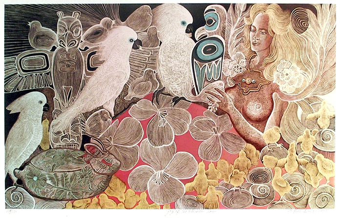 Alice Asmar, Joy of the Eternal Now, Lithograph