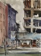 Eve Nethercott, City Street (49), Watercolor, Eve Nethercott, Click for value