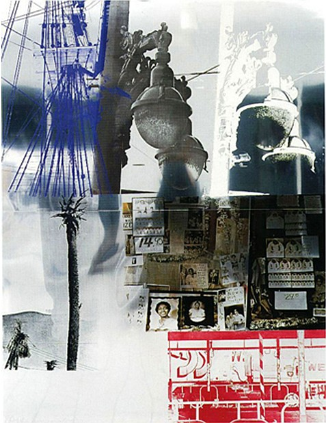 Robert Rauschenberg, Narcissus/ROCI USA (Wax Fire Works), Mixed Media on Steel