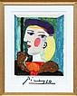 Pablo Picasso, Femme Profile, Lithograph