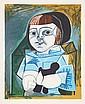 Pablo Picasso, Paloma en Bleu, Lithograph