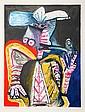 Pablo Picasso, Personnage a la Pipe, Lithograph
