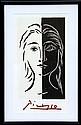 Pablo Picasso, Portrait en Deux Parties Noire et Blanche, Lithograph