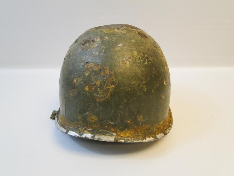 Vintage Military Surplus Green Helmet