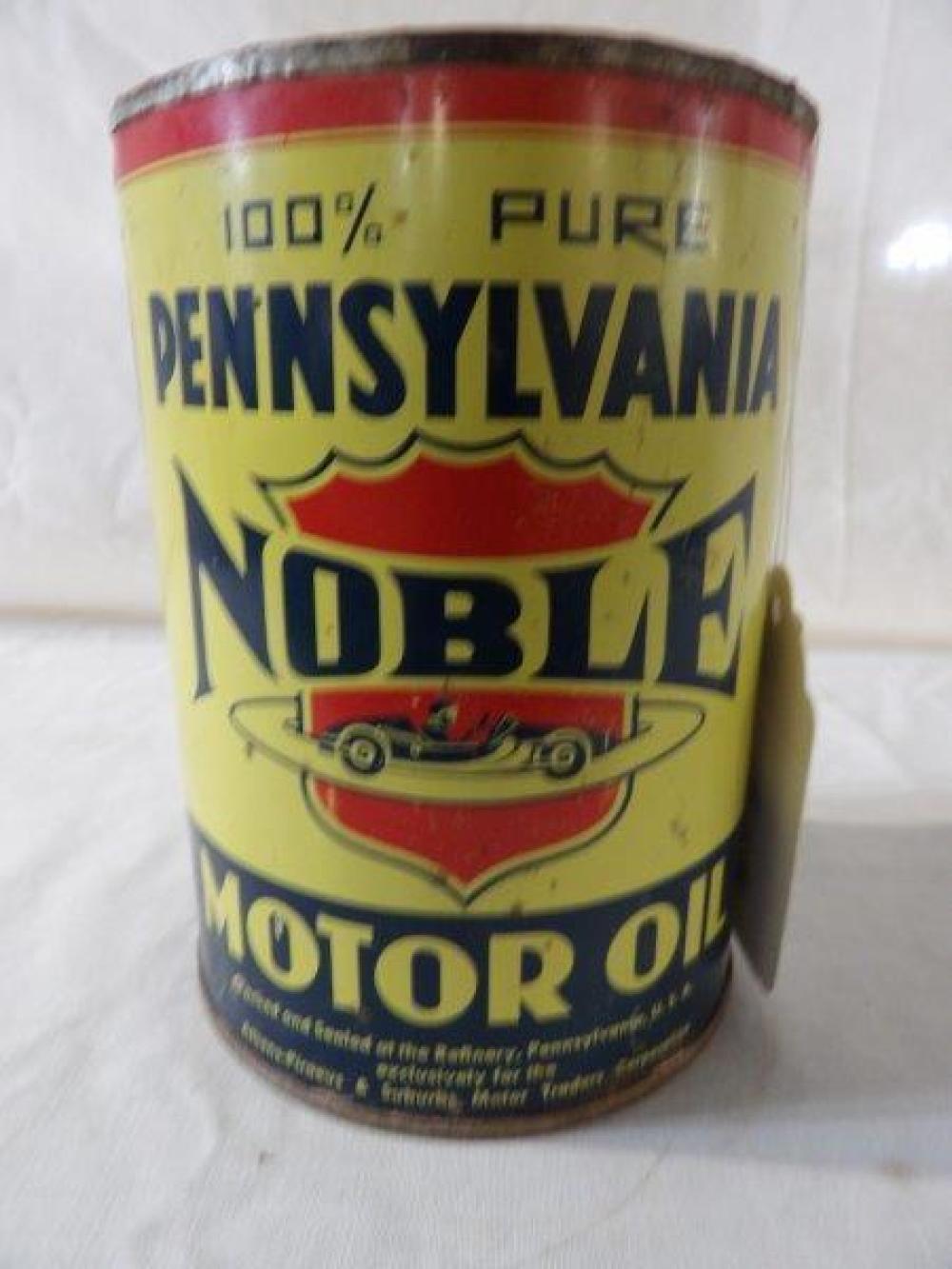 Pennsylvania Noble motor oil 1 qt can
