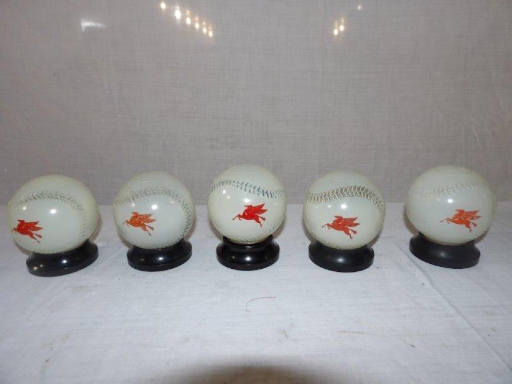 5- 1950s Mobiloil baseball Banks