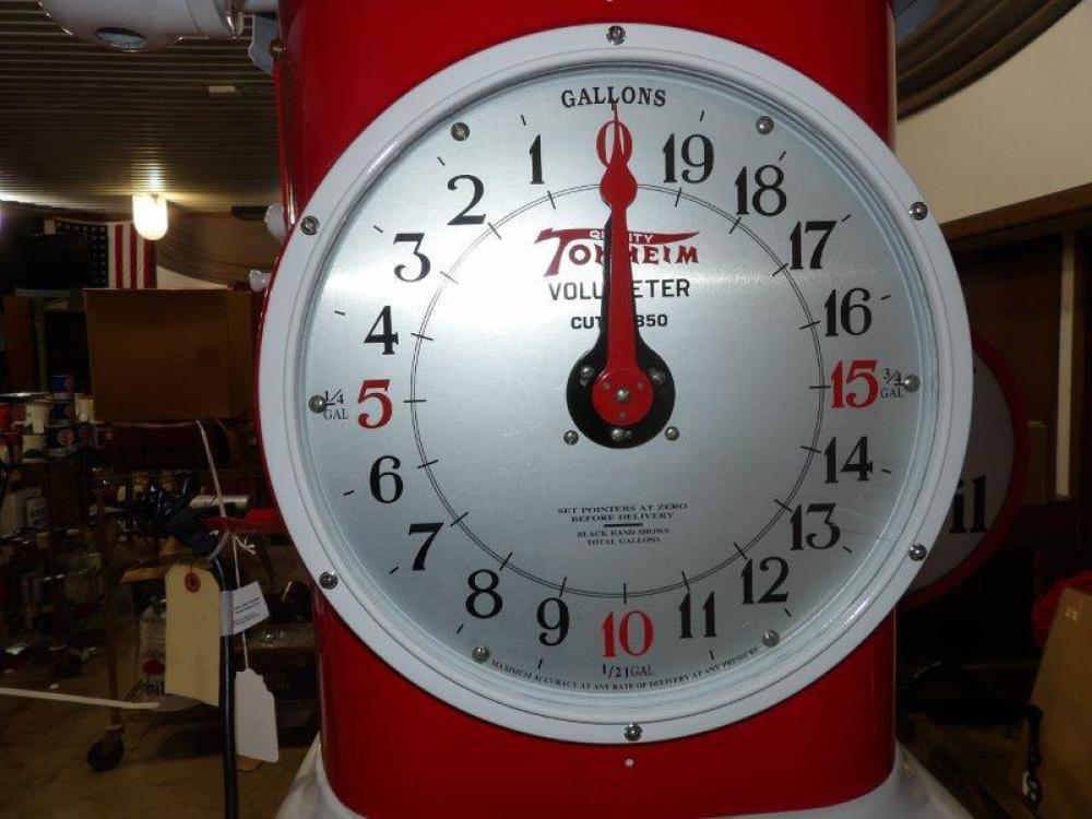 Outstanding 1931 Tokheim 850 Volumeter Clock Face-Sq. Body gas pump