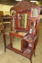 Fancy Dresser with Multiple Mirrors & Carved Details