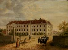 19th c. German School oil