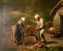 Adolphe Leleux oil