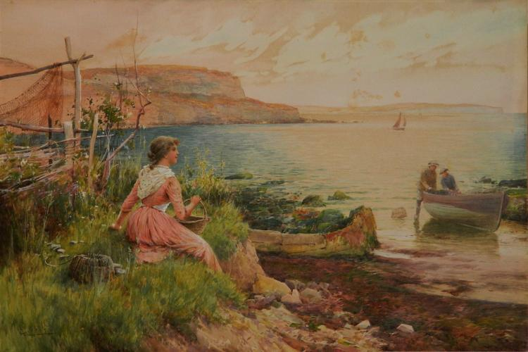 Alfred Glendening watercolor