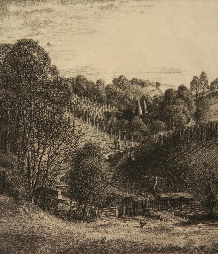 Stanley Roy Badmin etching