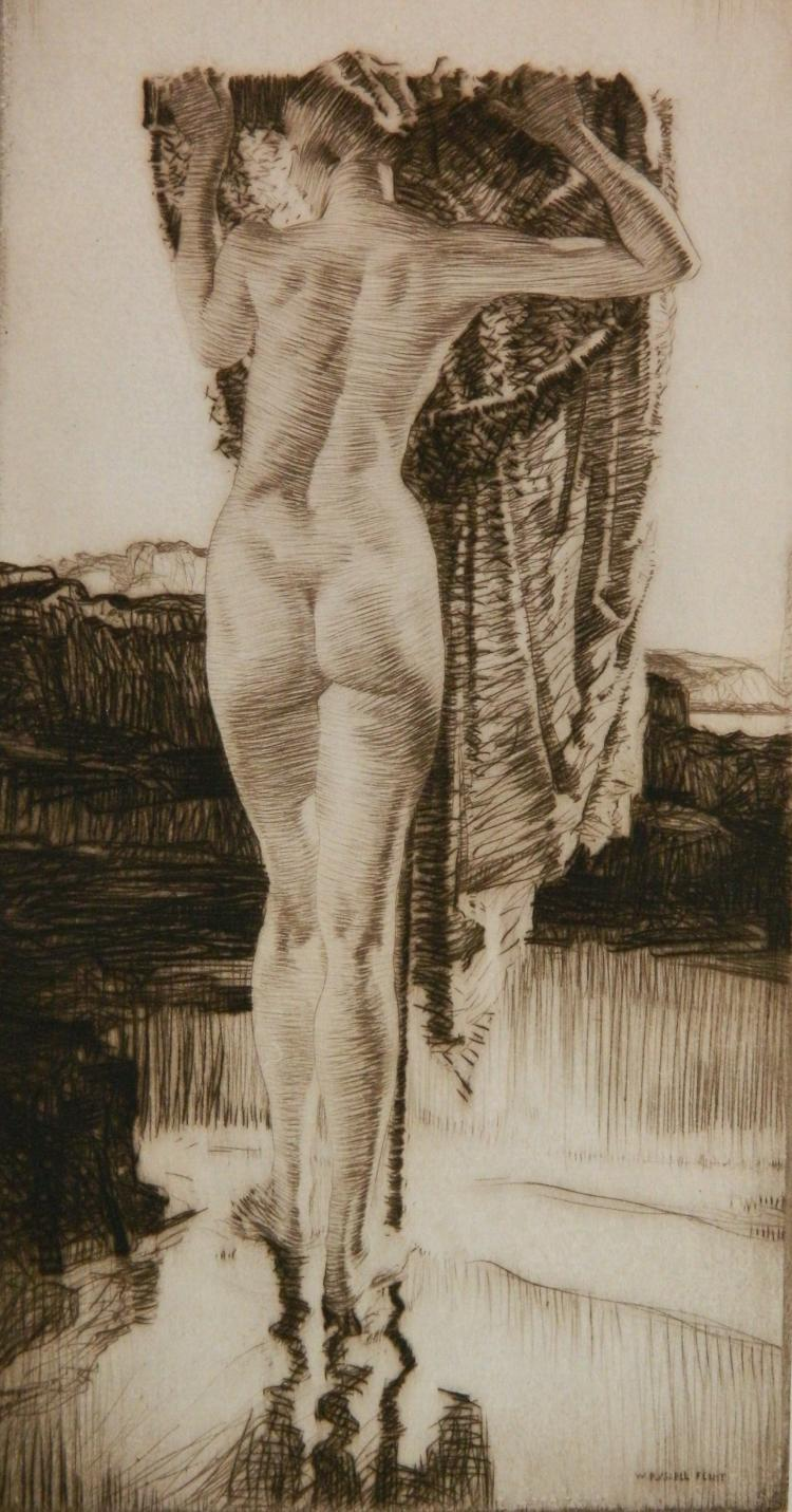 Sir William Russell Flint etching