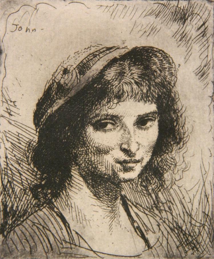 Augustus John etching
