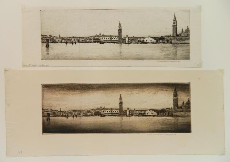Mortimer Menpes 2 etchings