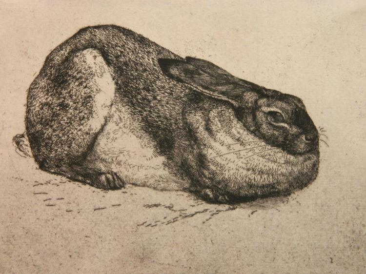 Charles Frederick Tunnicliffe etching