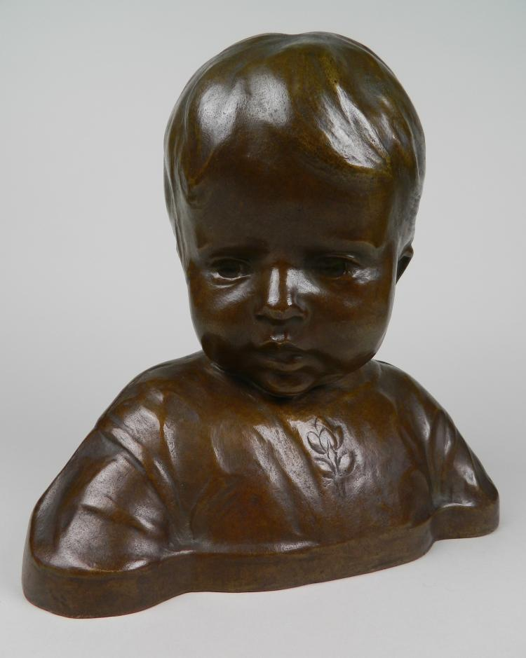 Frank Tolles Chamberlin bronze sculpture