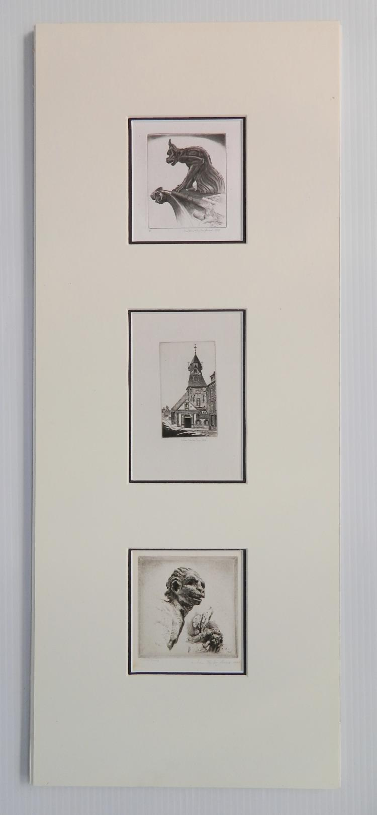 John Taylor Arms 3 etchings